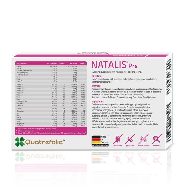 Sanaexpert Natalis Pre Ingredients