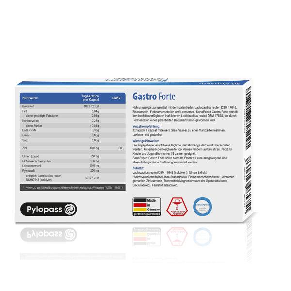 SanaExpert Gastro Forte Ingredients